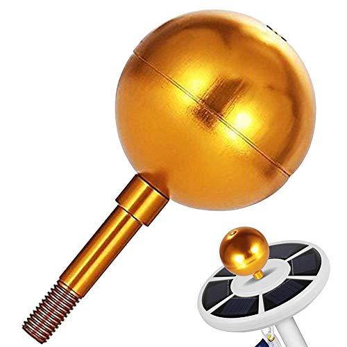 Gold eloxiertes Aluminium Fahnenmast Kugel Ornament, 1/2
