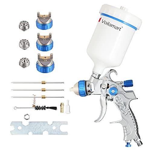 Voilamart HVLP Gravity Feed Air Spray Gun 600CC Cup Paint Sprayer Airbrush...