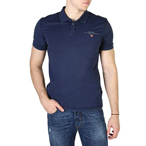 NAPAPIJRI Elli Polo, Blu (Medieval Blue Bb61), Medium Uomo