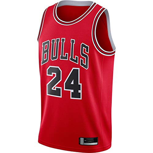 Lauri -Red -Markkanen Chicago Top sin mangas Bulls Mesh Basketball Jersey #24 Lauri Replica Swingman Jersey Icon Edition-M