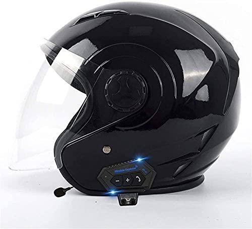 Cascos Integrales Bluetooth Para Motocicleta, Casco Modular Para Adultos Con Doble Visera, Antivaho, Motocross, Micrófono Con Altavoz Incorporado, Certificación DOT G,XL