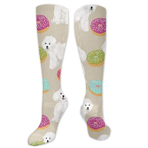 antcreptson Bichon Frise Fabric Candle Dress Socks Funny Socks Crazy Socks Casual Cotton Crew Socks