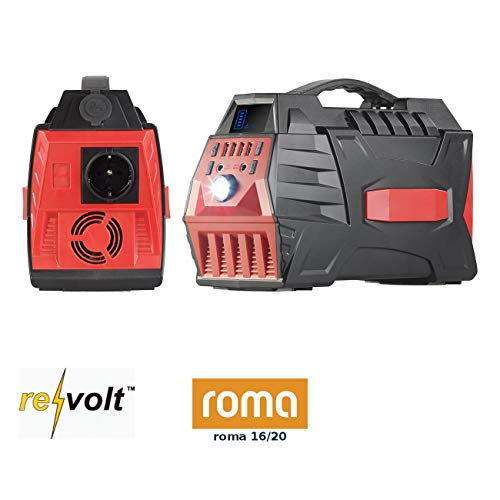 reVolt Solargenerator: Powerbank & Solar-Konverter, 80 Ah, 288 Wh, 230 V, 12 V, USB, 500 W (Akku Pack)