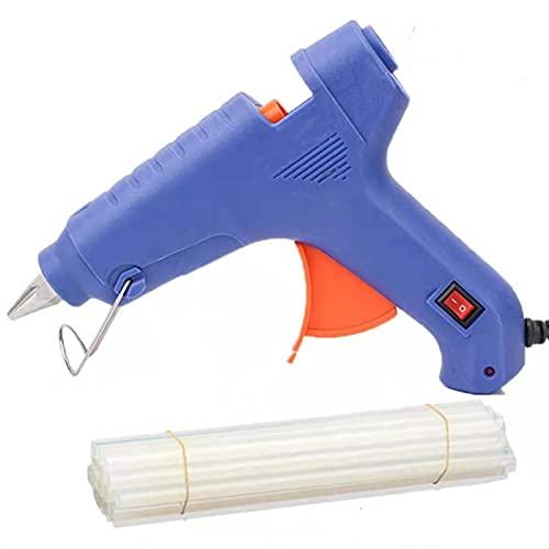 N / B Kit de Pistola de Pegamento de fusión en Caliente, Pistola de Pegamento Caliente de 60 vatios, Aumento de la Temperatura rápida, con 20 palitos de Pegamento de 1.1 cm