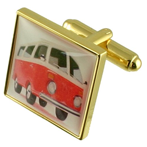 Select Gifts Gold VW Wohnmobil Neuheit Manschettenknöpfe mit Tasche
