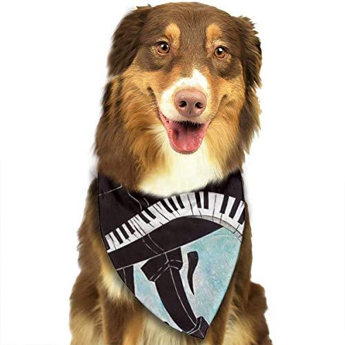 FunnyStar hond Bandana Cool Piano muziek toetsenbord schilderen sjaals accessoires decoratie voor huisdier katten en puppies