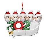 2020 Quarantine Personalized Name Christmas Ornament Kit, Survivor Family Customized Souvenir, Christmas Tree Hanging Pendant, Xmas DIY Creative Decoration for Home (Family of 5)
