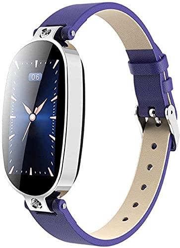 hwbq Reloj Inteligente Pulsera Fitness Tracker Recordatorio de Llamadas Pantalla Color Salud Impermeable Reloj Bluetooth Mujeres-Azul Exquisito/Azul Plata-Azul Plata
