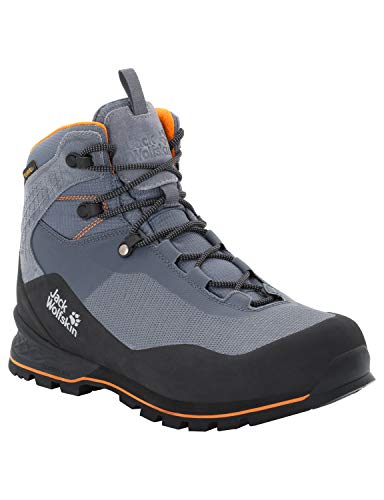 Jack Wolfskin Herren Wilderness LITE Texapore MID M Trekking-& Wanderstiefel, Grau Pebble Grey Black 6507, 43 EU