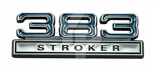 383 6.2 Liter Stroker Engine Emblem in Chrome & Blue - 4' Long