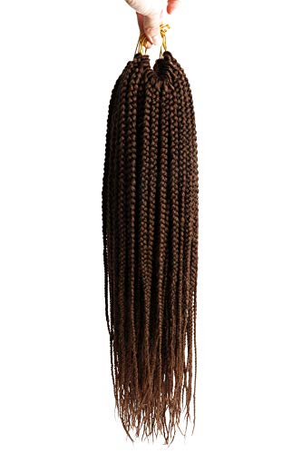 (6 Packs,18 Inch) DakTou Hair Jumbo Flechten Box Braid Haarverlängerung Zopf 3X Crochet Braids Curly Twist Hair Extensions Zopf 20 Strands/pack (18 Inch, T30#)