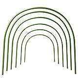 Babody 18 aros de invernadero, marco de soporte de tela de jardín, 40 x 50 cm, soporte para plantas