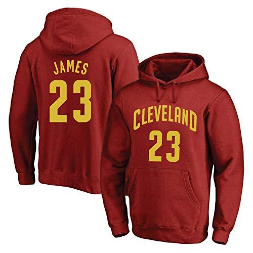 JAG Hombres Mujeres Sudadera con Capucha de Baloncesto NBA Cavs 23# James Jersey Sudadera con Capucha Sudadera de Baloncesto Suelta Camiseta