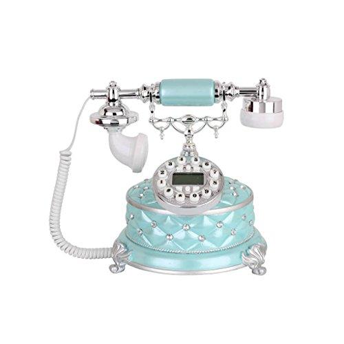 LXYFMS teléfono Creativo y Antiguo Estilo Retro Vintage para el hogar, teléfono con Pantalla Azul