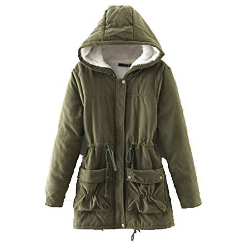 SLYZ Manteau En Laine D'agneau De Grande Taille Nouveau Style Pour Femmes D'hiver Slim Veste à Capuche Mi-Longue Pour Dames