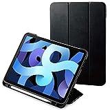 エレコム iPad Air10.9インチ(第4世代 2020年モデル)対応 レザーケース 手帳型 2アングル スリープ オートスリープ対応 TPU背面 ブラック TBWA20WVSABK