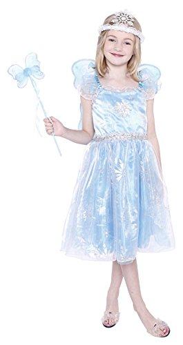 UP&CO - 050554 - Déguisement Robe de Fée avec Accessoires - 7-8 ans - Turquoise