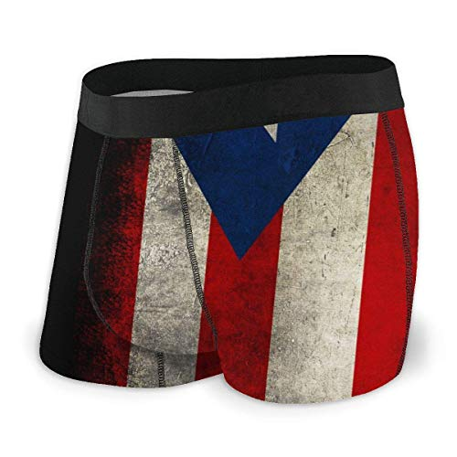 Adamitt Bandera de Puerto Rico Hombres 'S Sexy Impresión Divertida Lencería Boxer Calzoncillos Ropa Interior Bragas