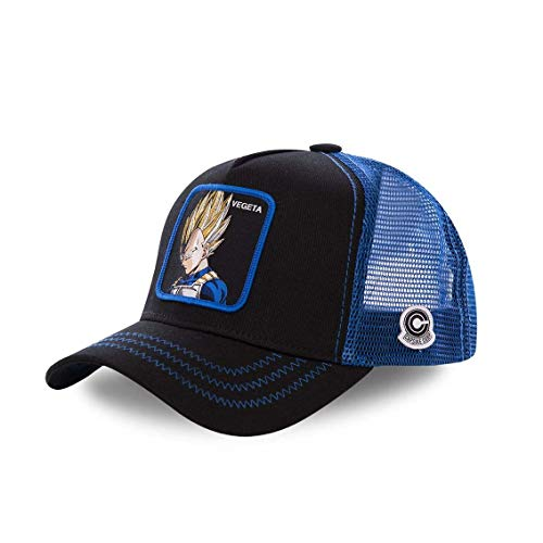 Collabs Gorra Dragon Ball Z Vegeta Trucker Negro (Talla única para Todos sexos) …