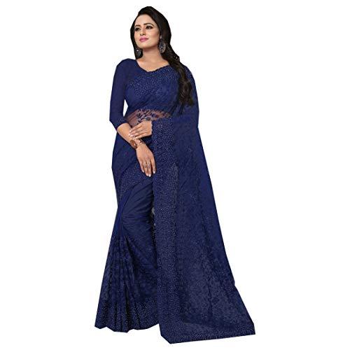 Pinkkart Net Borduurwerk Indian Saree Designer Blouse Bruiloft Party Wear Vrouwen Jurk 9612