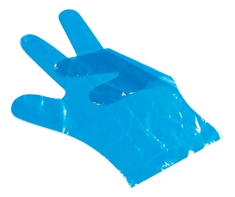 ベックスプレゼン交換可能サクラメン スタンダード手袋 ポリ青(100枚入)M 30μ