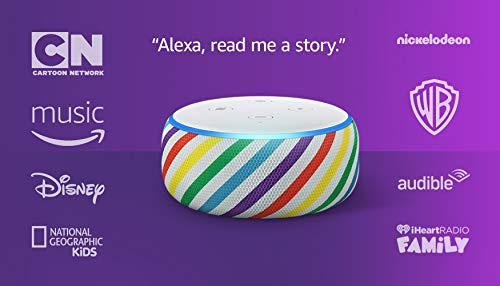 Echo Dot (3rd Gen) Kids Edition, an Echo designed for kids with parental controls - Rainbow