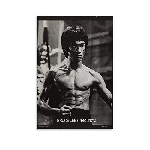 DIDIWEI Póster de Bruce Lee de 1973 (2), cuadro decorativo, lienzo para pared, sala de estar, dormitorio, 30 x 45 cm