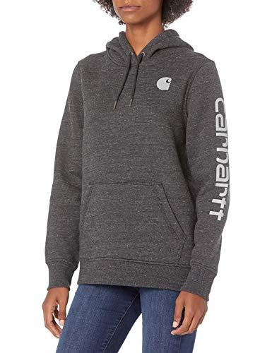 Carhartt Damen Clarksburg Graphic Sleeve Pullover Sweatshirt Kapuzenpulli, schwarz, X-Small