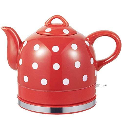 Bouilloires eau électrique Bouilloire  Thé en céramique Pot  1L Bouilloire sans fil  rapide 1000W 8bayfa