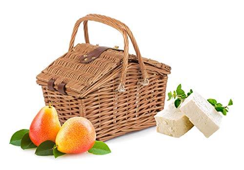 Wrenbury - Cesta de picnic para 2 personas, cesta de mimbre para 2 personas, cestas tradicionales multifuncionales