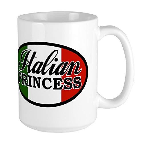 CafePress Italian-Princess.Png Large Mug Coffee Mug, Large 15 oz. White Coffee Cup