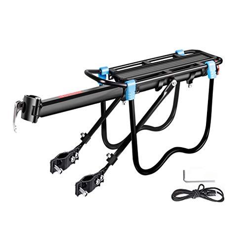 Bagażnik Rowerowy Tylny Regały tylna do rowerów górskich, rower rowerowy Stojak tylny pół-szybki uwalniający regulowany nośnik rowerowy 160 funtów (75 kg) Pojemność Łatwa instalacja Black