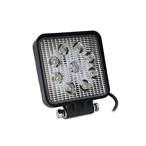 QCLU 4 Pulgadas 27W LED Luces de Trabajo Nueva Lámpara de Inundación Coche Barco Camión Vehículo Offroad for Luz de Conducción Impermeable IP68 DC 10-30V (Color : 1 pcs)