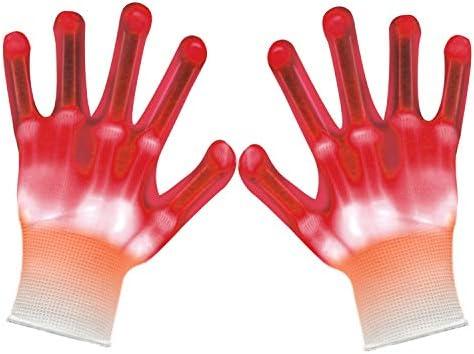 VICSPORT Led Gloves Skeleton Flashing Light Up Toys for Boys Girls Children Teenager Party Light product image