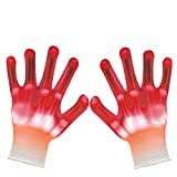 VICSPORT Led Gloves Skeleton Flashing Light Up Toys for Boys Girls Children Teenager Party/Light Show /Glow Party/Halloween/Christmas/Birthday Gift