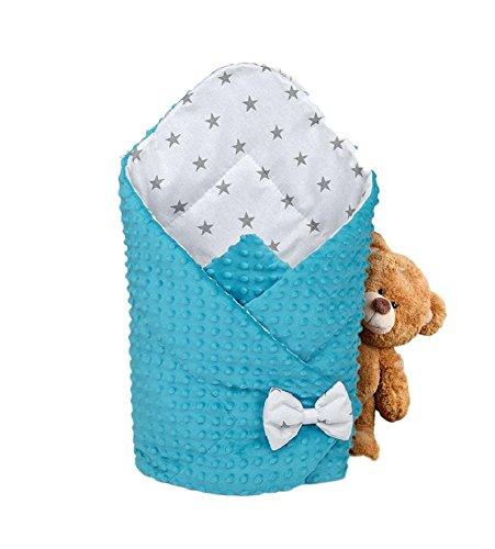 Saco de Dormir para bebé de – Manta de niño pequeño de Dormir, invierno, para durante todo el año, Saco de algodón Minky reversible para envolver (Gris)