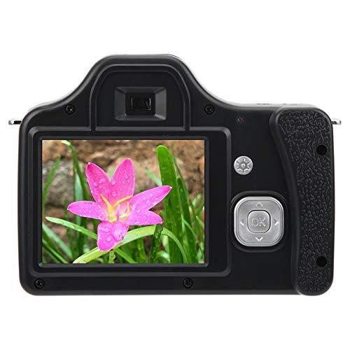 Akozon Videocámara con cámara de Video, Pantalla LCD de 3.0 Pulgadas con Zoom 18X Cámara HD SLR Cámara Digital portátil de Larga Distancia Focal(Estándar)