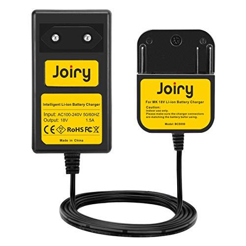 Joiry 18V Cargador para Makita BL1830 18V Lithium Batería (No para Ni-MH/Ni-Cd Batería)