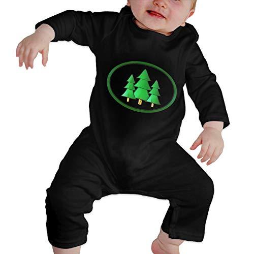 Rasyko Baby Strampelanzug mit Weihnachtsbaum-Motiv, für Babys und Kleinkinder, personalisierbar Gr. 6 Monate, Schwarz
