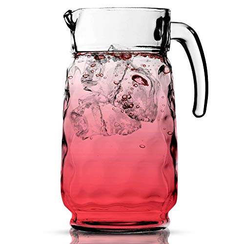Glass Water Pitcher – 54 OZ. Juice Pitcher By Home Essentials and Beyond – Serving Carafe Tea Pitcher for Water, Juice, Sangria and Cocktails. Dishwasher safe.