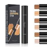 MEICOLY 6 Colors Highlight Stick Double Head Facial 3D Contour Repair Bronzer Concealer 2 in 1 Stick Body Makeup Shading Foundation Cream Pen,3pcs