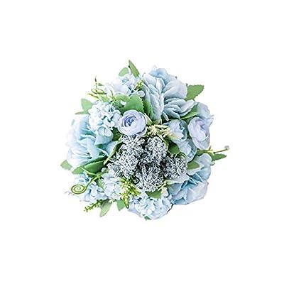 Academyus 1 Bouquet Nordic Artificial Rose Silk Cloth Flower Wedding Home Decoration Blue from Academyus
