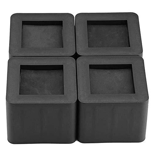 Dioche Bed Riser,Elefantenfuß Bed Riser 4Pcs / Set Möbel Bein Riser PP Kunststoff rutschfeste Riser für Tisch Schreibtisch Bett Sofa schwarz Farbe