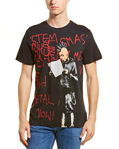 Camiseta de arte Eleven Paris Brandalized Banksy, Smash It, Black, Small