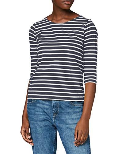 Armor Lux Damen Cap Coz T-Shirt, Mehrfarbig (Rich Navy/Blanc Bi8), Small (Herstellergröße: 1)