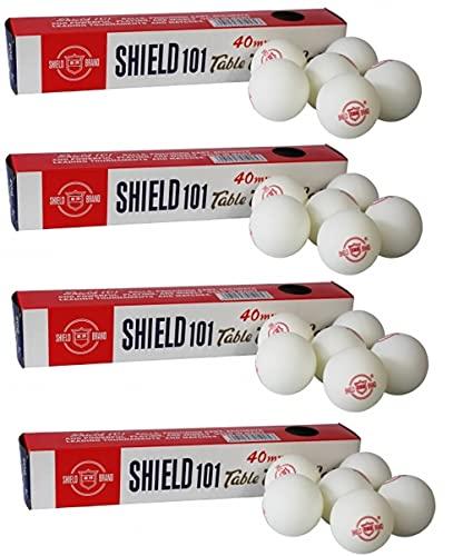 Forever Online Shopping Shield 101 Plastic 40 mm Table Tennis Balls (24 Pc ) White
