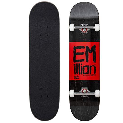 Emillion Complete Skateboard Roots Series komplett Board aus Ahorn Holz - Verschiedene Breiten (8.0 x 31.5 Inch)