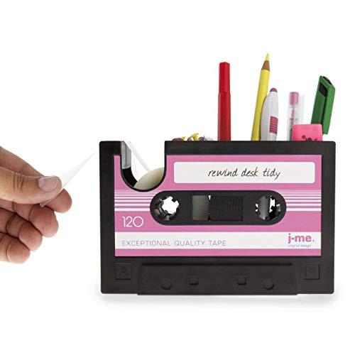 Creative Tape Design Desktop Pen Houder Vaas Case, Retro Cassette Tape Dispenser Vaas Pot, Decoratieve Bureau Tidy Organizer Opslag, Office briefpapier Opslag Container- Uniek geschenk roze