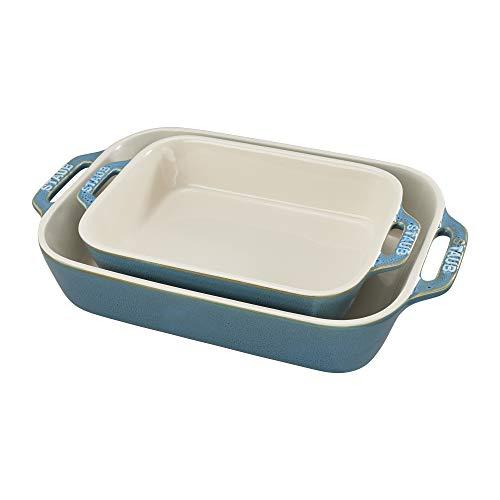 STAUB Ceramics Rectangular Baking Dish Set, Casserole Dish, Baking Pans for Lasagna, Cake,...