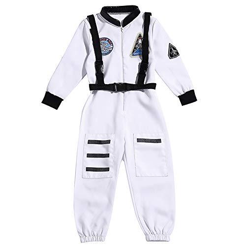 GDCB Kinder Astronaut Kostüm Kids Boys Girls Jumpsuit Dress up Rollenspiel Set für Halloween Theme Party